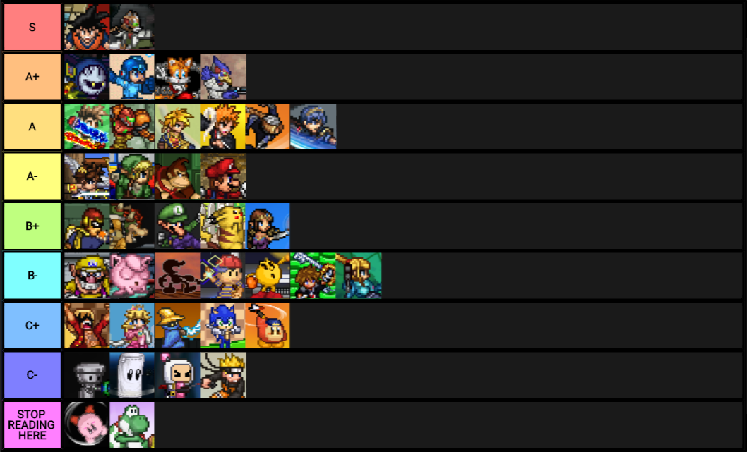 Image result for ssf2 tier list | Super Smash Flash 2 (SSF2) | Super