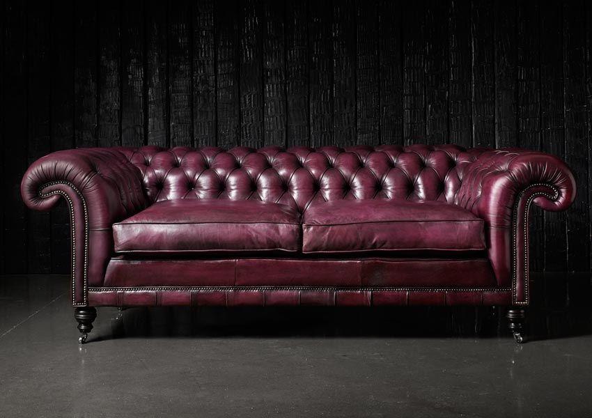Samual Johnson Chesterfield Sofa Rustic Sofa Sofa