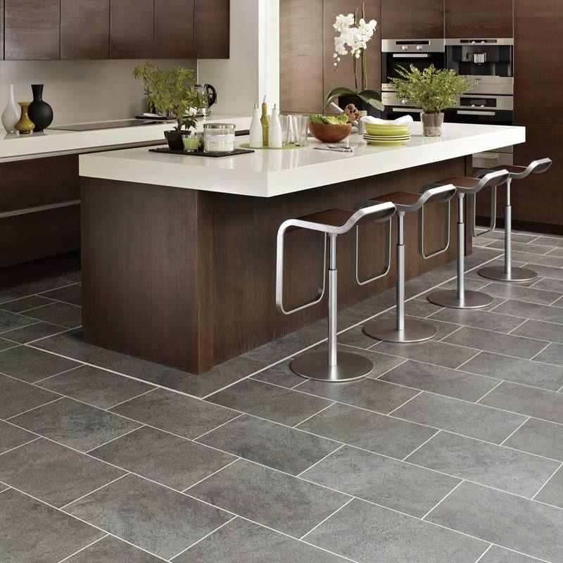 Image result for karndean grey riven slate Grey kitchen