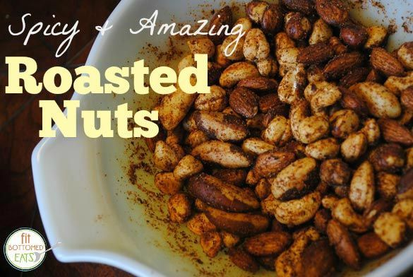 This roasted nuts recipe is delicious — and, hey, nut joke fodder!   Fit Bottomed Eats