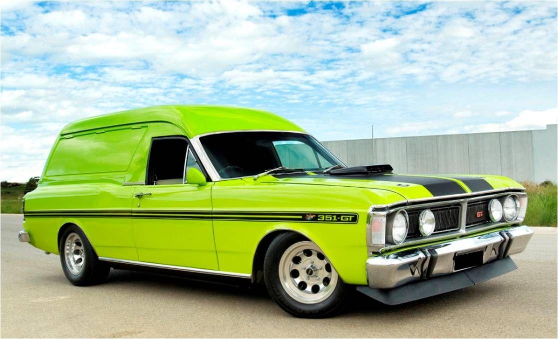 Xy Falcon Panel Van Sweet As Custom Muscle Cars Best Muscle