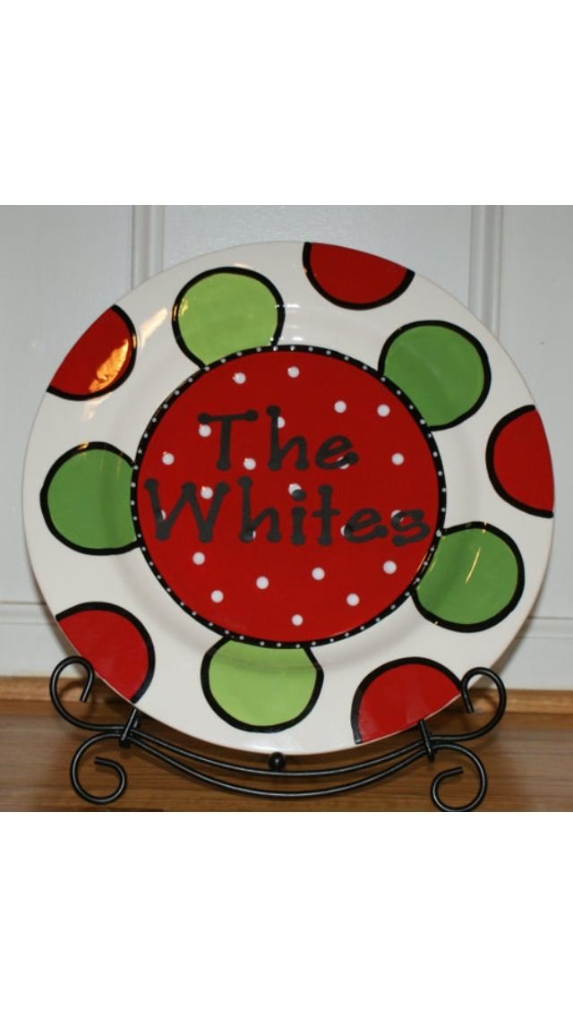 personalized christmas platter www etsy shop