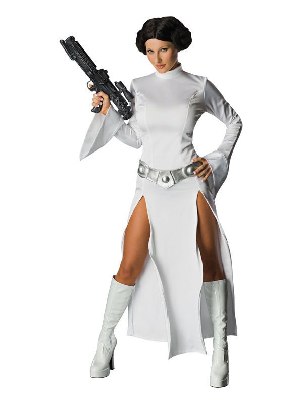 Adult Princess Leia Star Wars Fancy Dress Costume Ladies Womens Female BN in Clothes Shoes u0026 Accessories Fancy Dress u0026 Period Costume Fancy Dress | eBay  sc 1 st  Pinterest & Adult Princess Leia Star Wars Fancy Dress Costume Ladies Womens ...