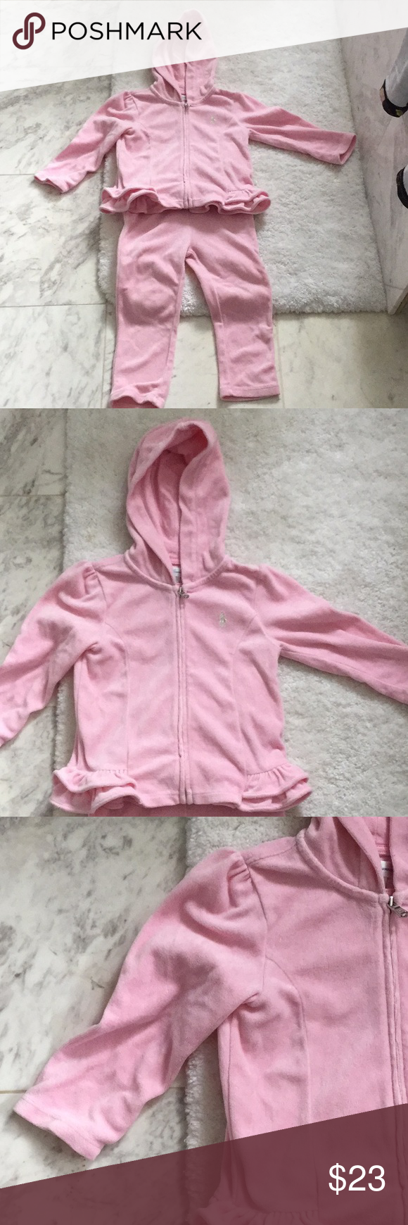 Velour Soft Baby Pink Sweatsuit Worn Once Pale Pink Breeze And Comfy