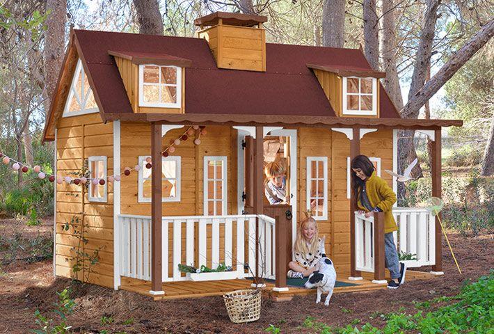 Casita de madera para niños Casa de madera, Madera y Infantiles - casitas de jardin para nios