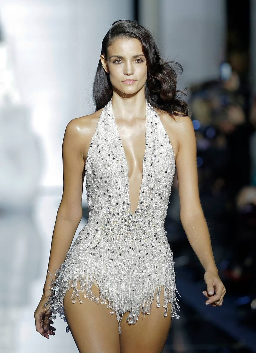 A couture swinsuit bedazzled with crystals  Zuhair Murad