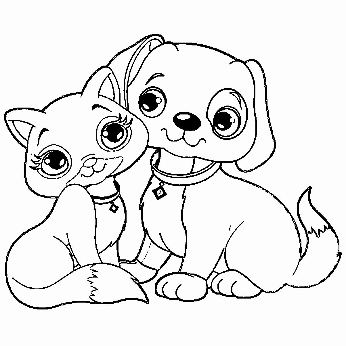 Dog Coloring Pages Pdf Unique Coloring Books Coloring Dog Cat Bird Remarkable And Kawaii Alphabet Penguin