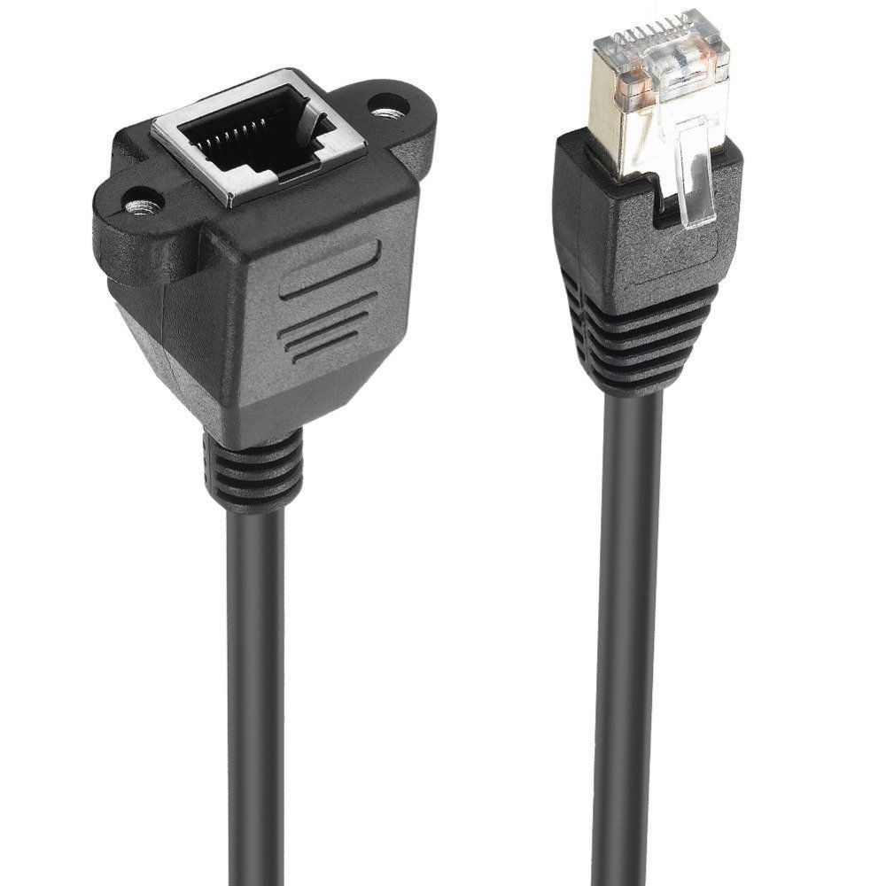 Rj45 Cat6 Male To Female Screw Panel Mount Ethernet Lan Network