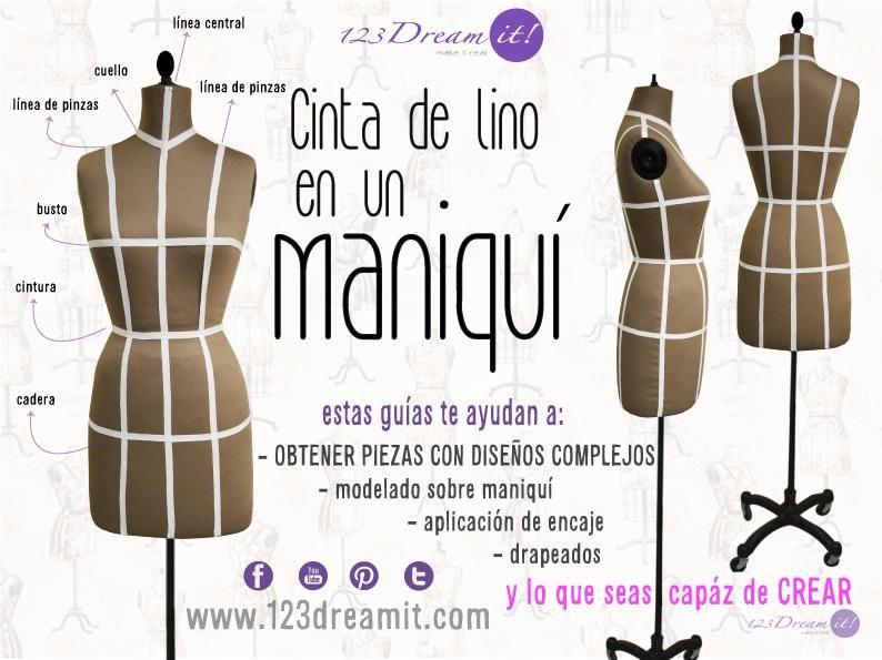 La cinta de lino en los maniquís, sirve para crear diseños únicos ...