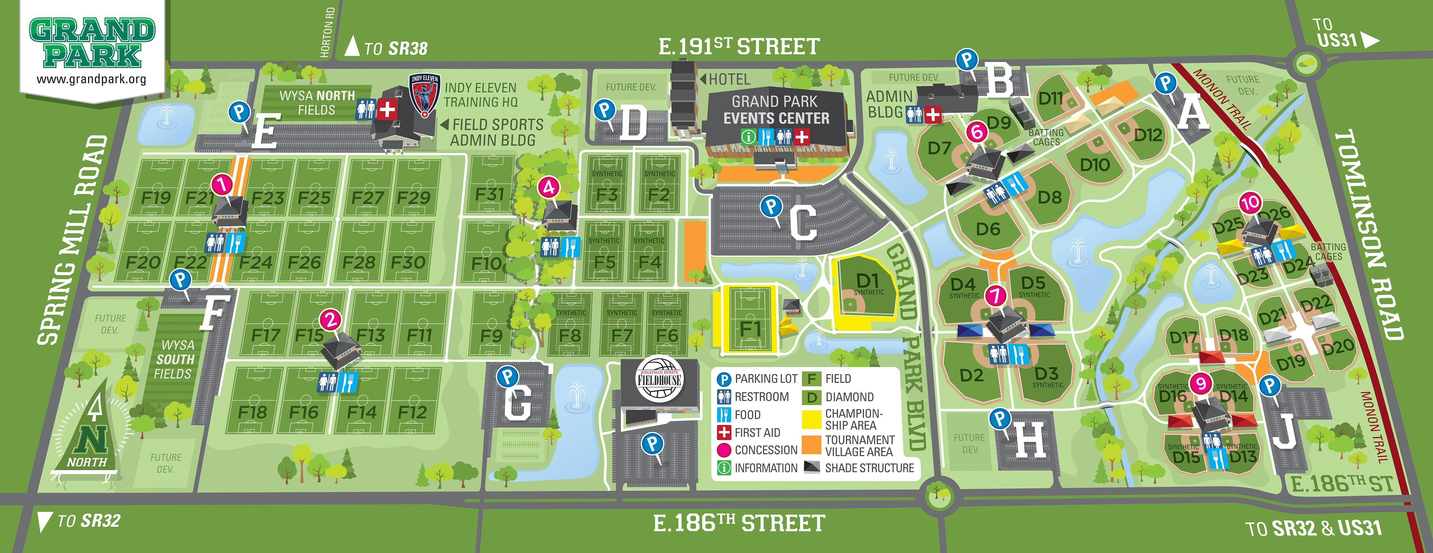 Field Maps Grand Park Soccer field, Park, Westfield