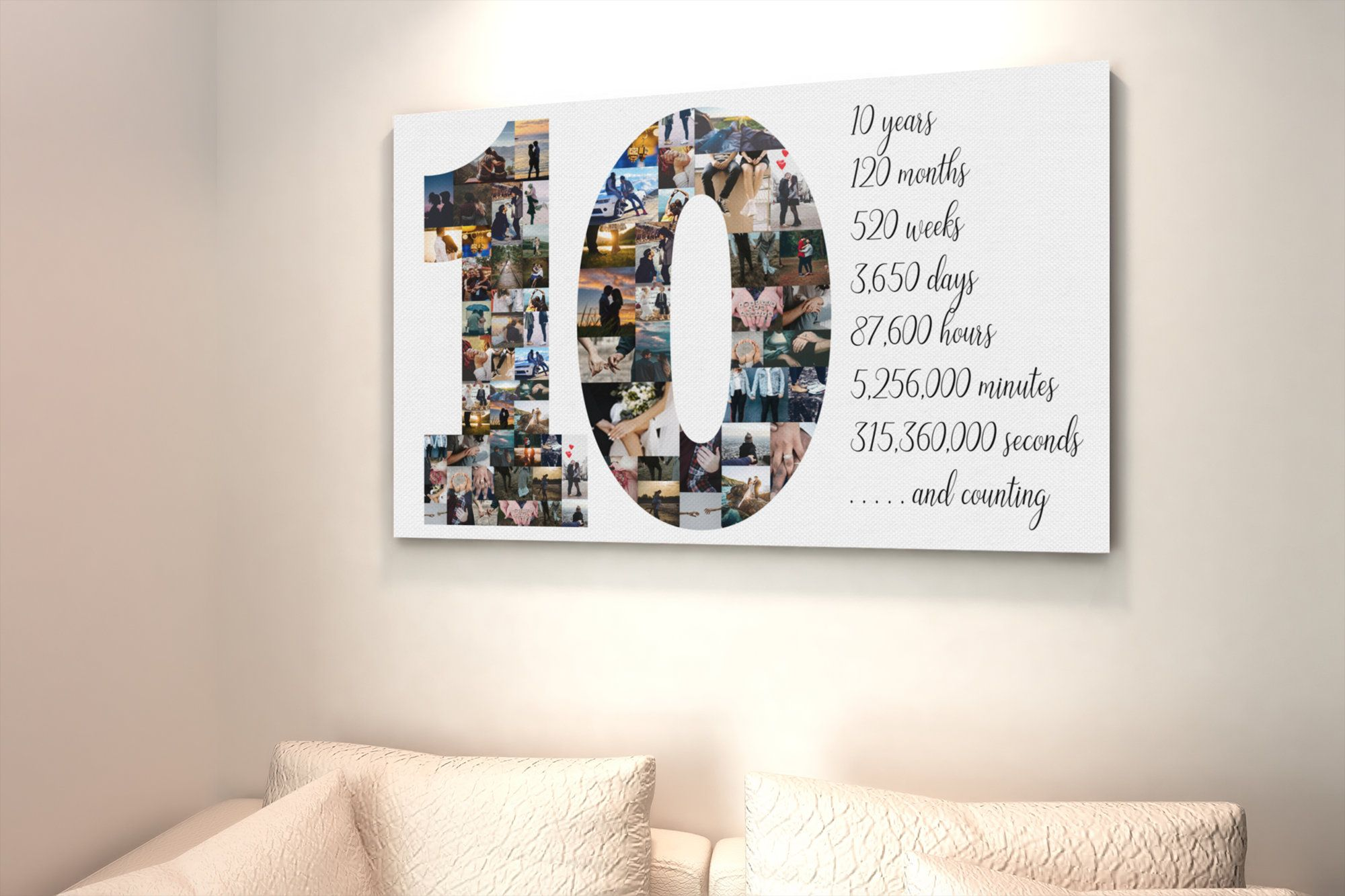 Custom 10th Anniversary Gift For Husband 10 Year Anniversary Etsy In 2020 10th Anniversary Gifts Anniversary Gifts For Parents 20th Anniversary Gifts