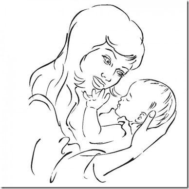 dibujos del dia de la madre 2018 para pintar y colorear | Cajas De ...