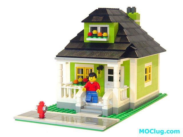 LEGO MOC: Grandma's Lime Green House | Lego, Lego house and Legos