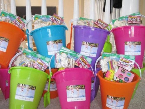 Pool Party Gift Bag Ideas beach ball pool party table confetti 1200 via etsy Beach Pail Filled With Candy As A Goodie Bag
