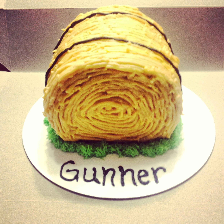 Hay Bale Smash Cake