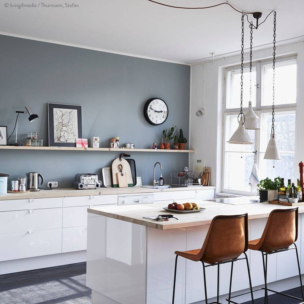 Pin By Home Decor On Diy Ideas Grey Kitchen Walls Kitchen Wall Colors Kitchen Design