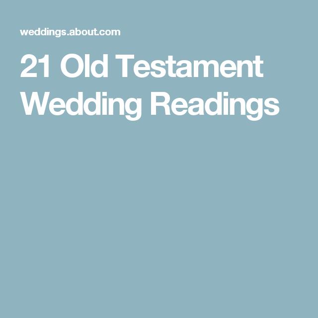 21 Old Testament Wedding Readings Ceremonies Day