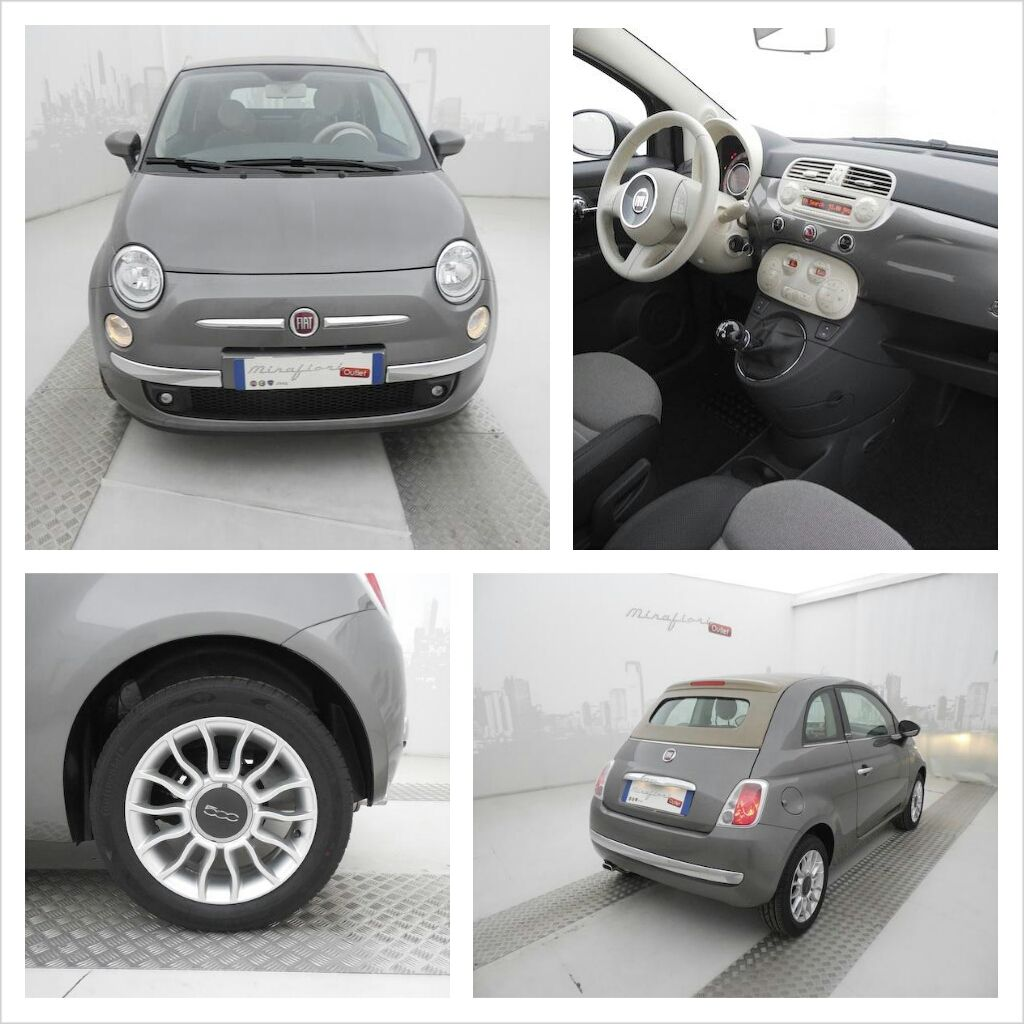 fiat 500c 1 2 69 cv lounge a km 0 color grigio pompei a autos motos pinterest. Black Bedroom Furniture Sets. Home Design Ideas