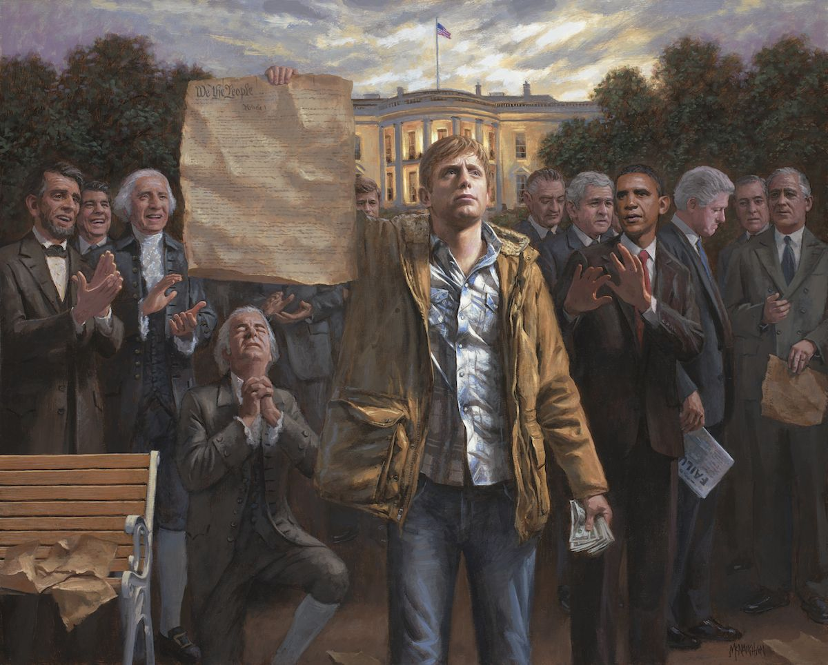 Jon McNaughton THE EMPOWERED MAN American Freedoms Constitution 16x20 litho