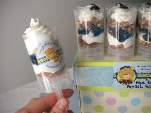 Push Pop Ideas: Creamy Blue U201cbearu201d Y Push Pop Recipe  . Bear Baby  ShowersTeddy ...