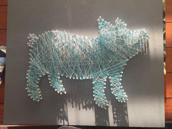 Pig String Art Board House String Art Art String Art