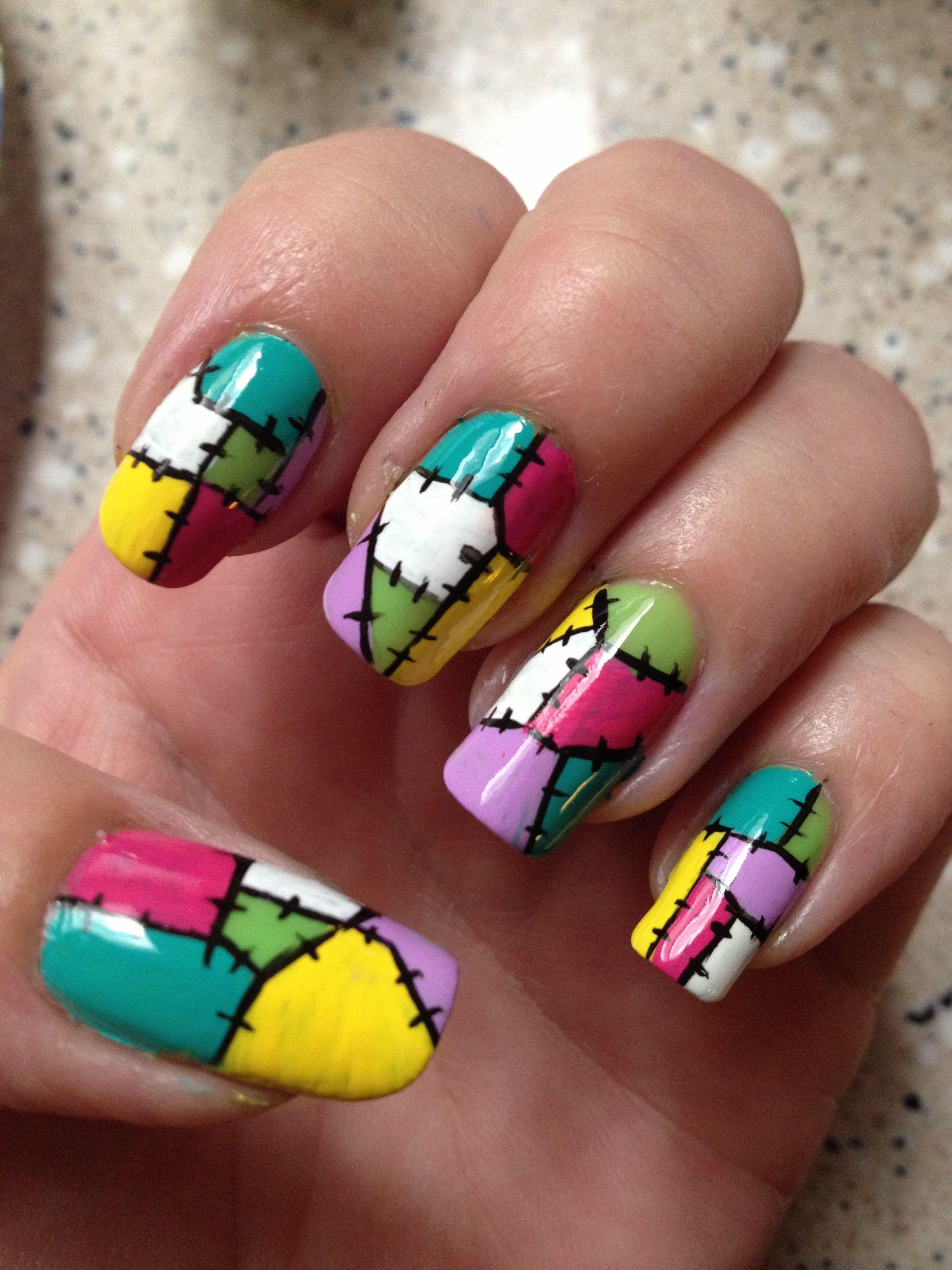 Patchwork Quilt Nail Art