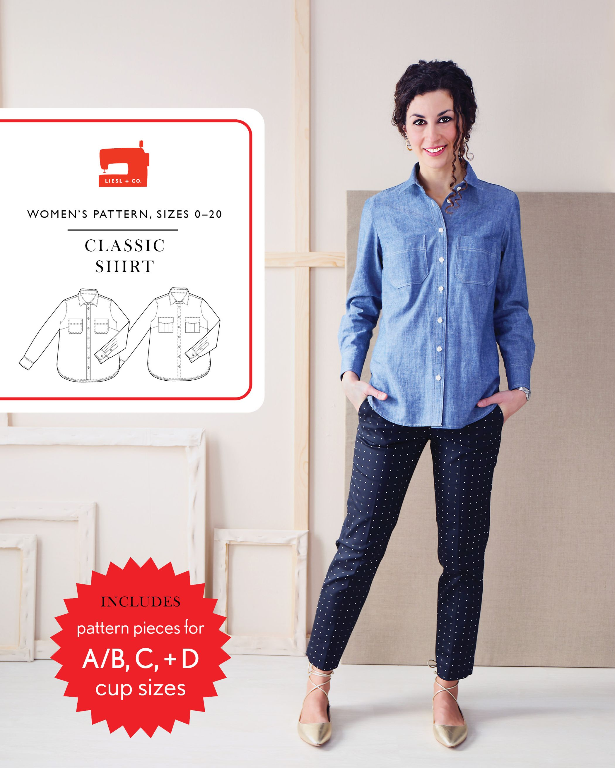 introducing the liesl + co. classic shirt sewing pattern | Blusen ...