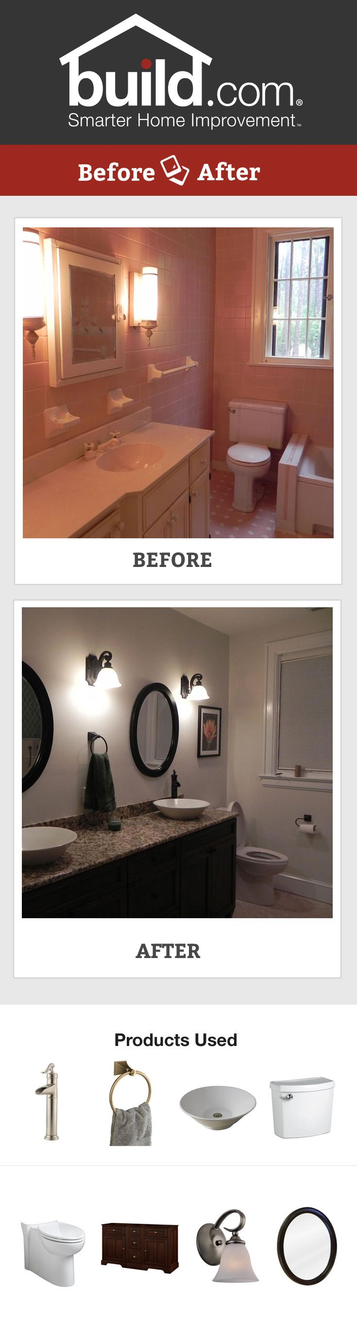 Attic bathroom remodel before after bathroom ideas pinterest - Looking For Bathroom Remodel Ideas Check Out This Bathroom Before And After Going From