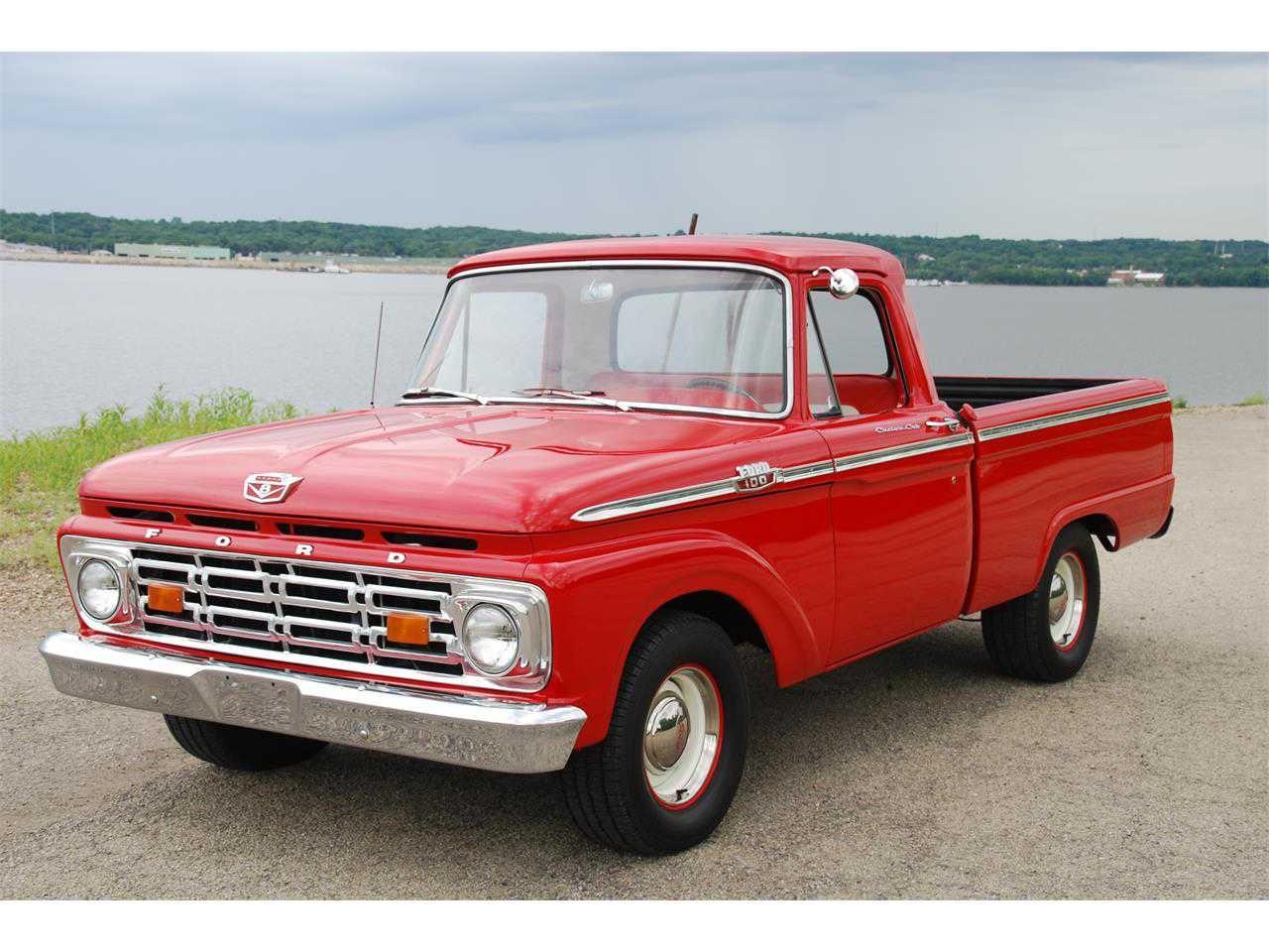 1964 Ford F 100 Pickup Trucks Vintage Pickup Trucks Classic