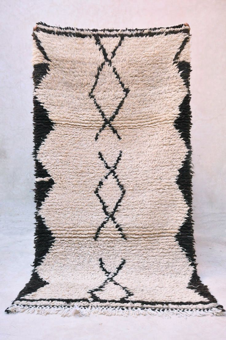 """LAMP SHADOWNS 5'2"""" x 2'8"""" Boucherouite Rug. Tapis Moroccan. Mid Century Modern Danish Design Compliment. (398.00 USD) by pinkrugco"""