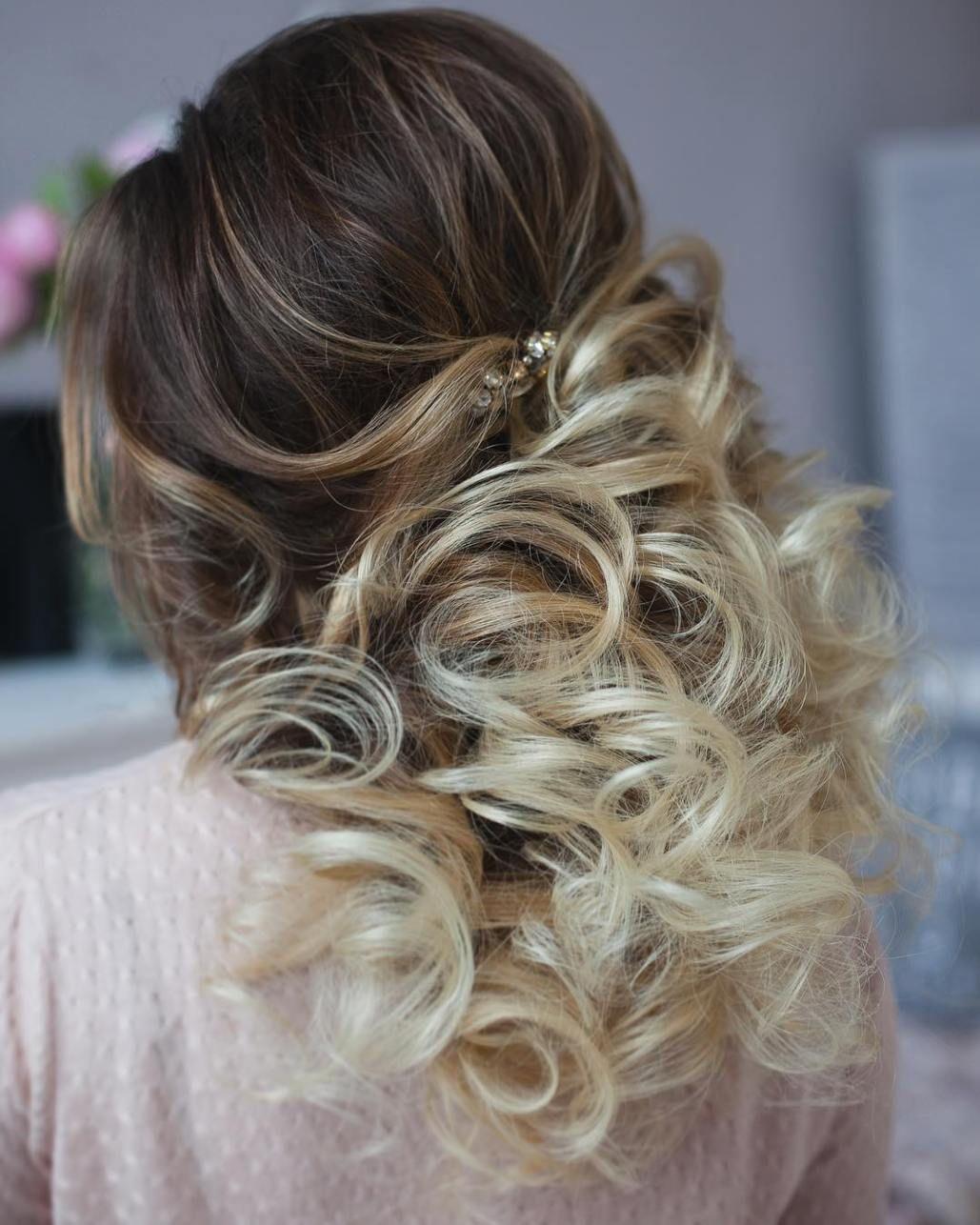 half up half down wedding hairstyles – 50 stylish ideas for