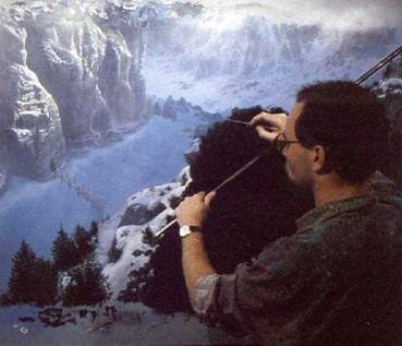 Rocco Gioffre - extraordinary matte artist who worked on many films such as Robocop, Bladerunner, Close Encounters of the Third Kind