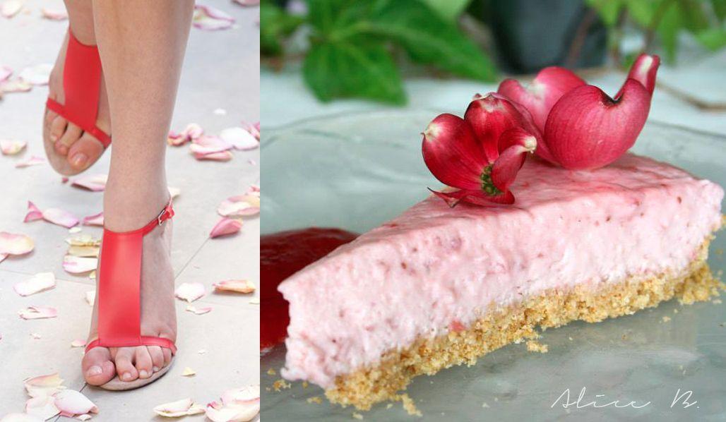 Fashion VS Food: Strawberry yogurt cake VS Burberry SS 2014 | Alice B.