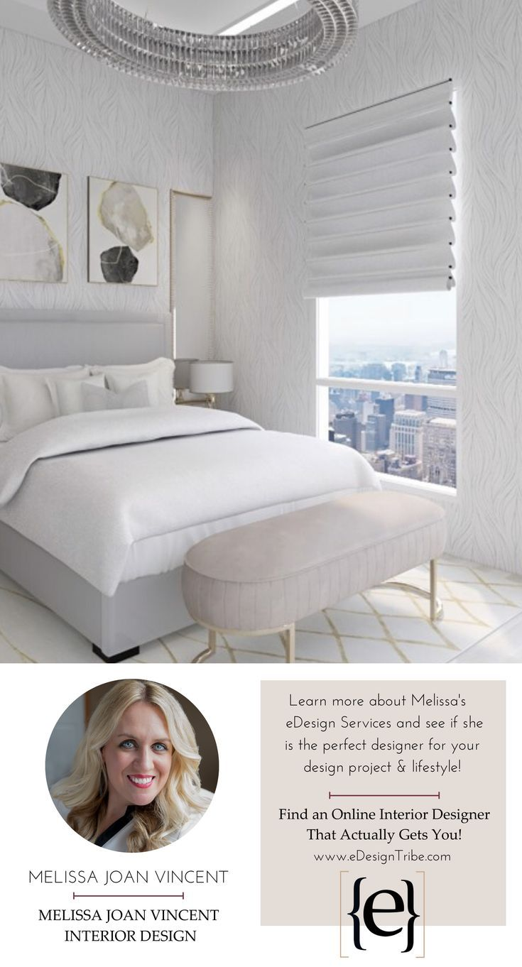   Melissa Joan Vincent Interior Designs     Learn more about Melissa's services and see if she's the e-designer for you!  #edesigntribe #edesignrevolution #interiordesign #edesign #onlineinteriordesign #glam #bedroom