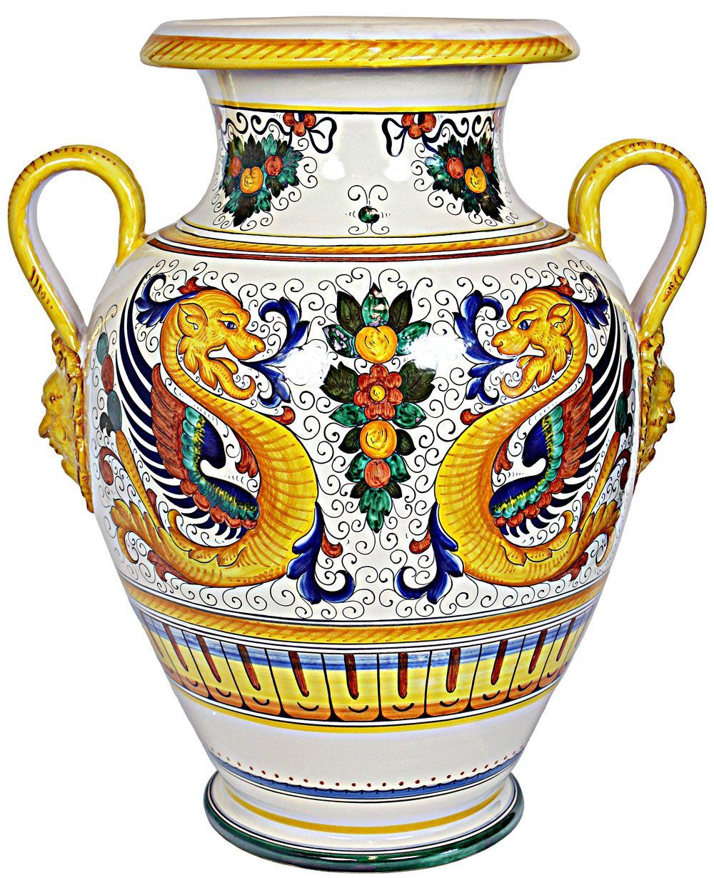 Deruta Italian Urn Vase - exquisite!