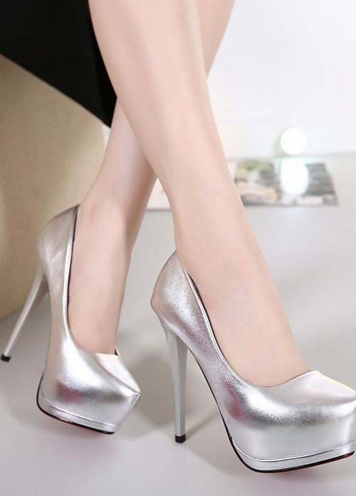 7e3c27ca4b Stunning silver high heel shoes 2018