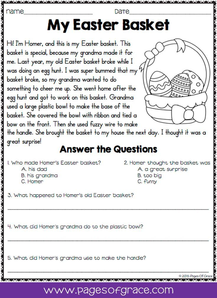 Reading Comprehension Passages And Questions For April Distance