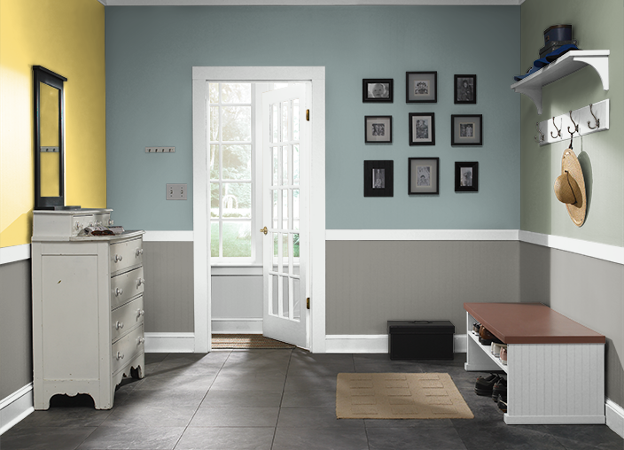 this is the project i created on behr com i used these on designers most used wall color id=99749