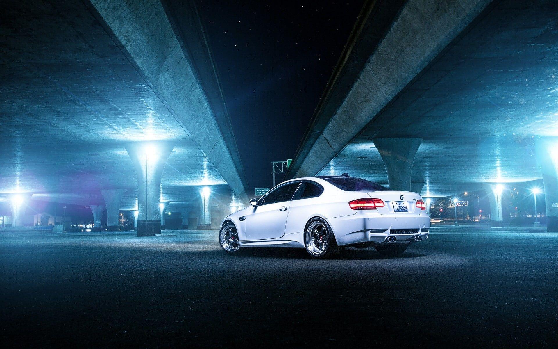 Bmw Bmw M3 Bmw E92 M3 Car Parking Lot White Cars 1080p Wallpaper Hdwallpaper Desktop White Car Bmw E92 M3 Bmw M3