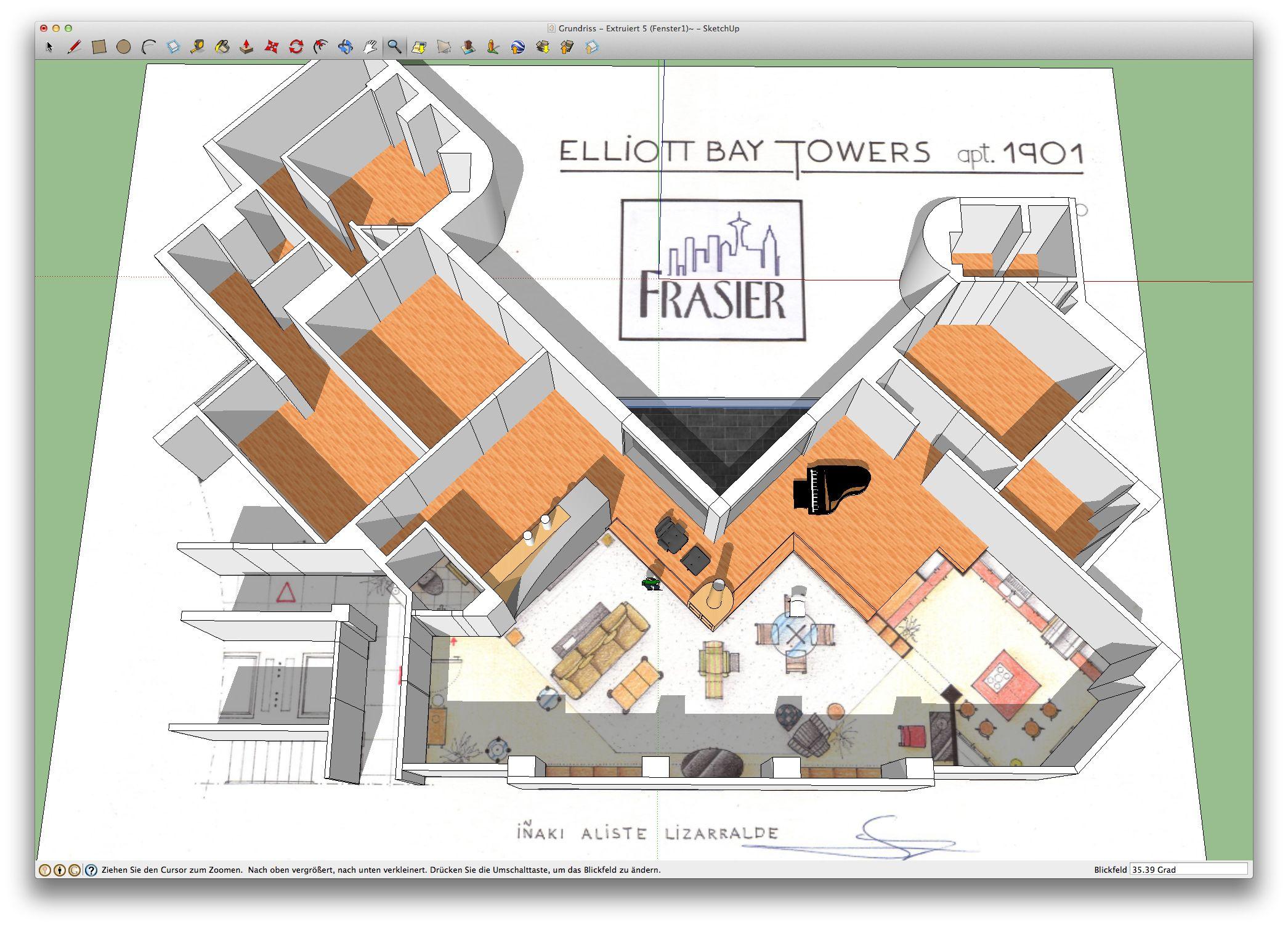 An Artist S Impression Of Frasier Apartment 1901