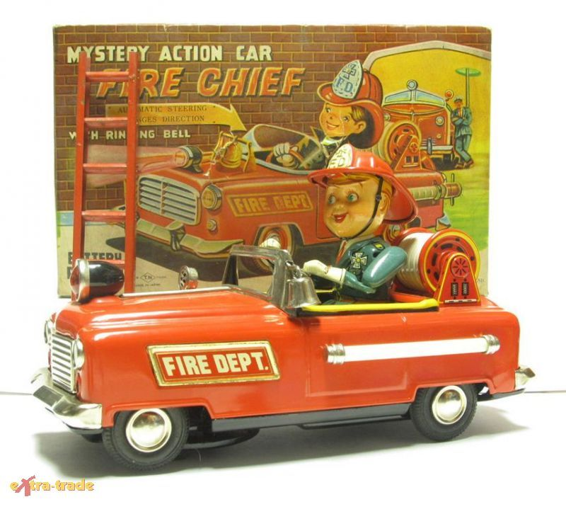 Mistery Action Car Fire Chief with ringing bell, w/ box, 128,55 € (17/02/14) ; 89,00 € (22/02/14, without box)