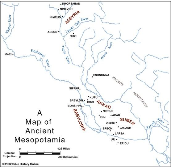 A Map Of Mesopotamia Mesopotamia Ancient Mesopotamia