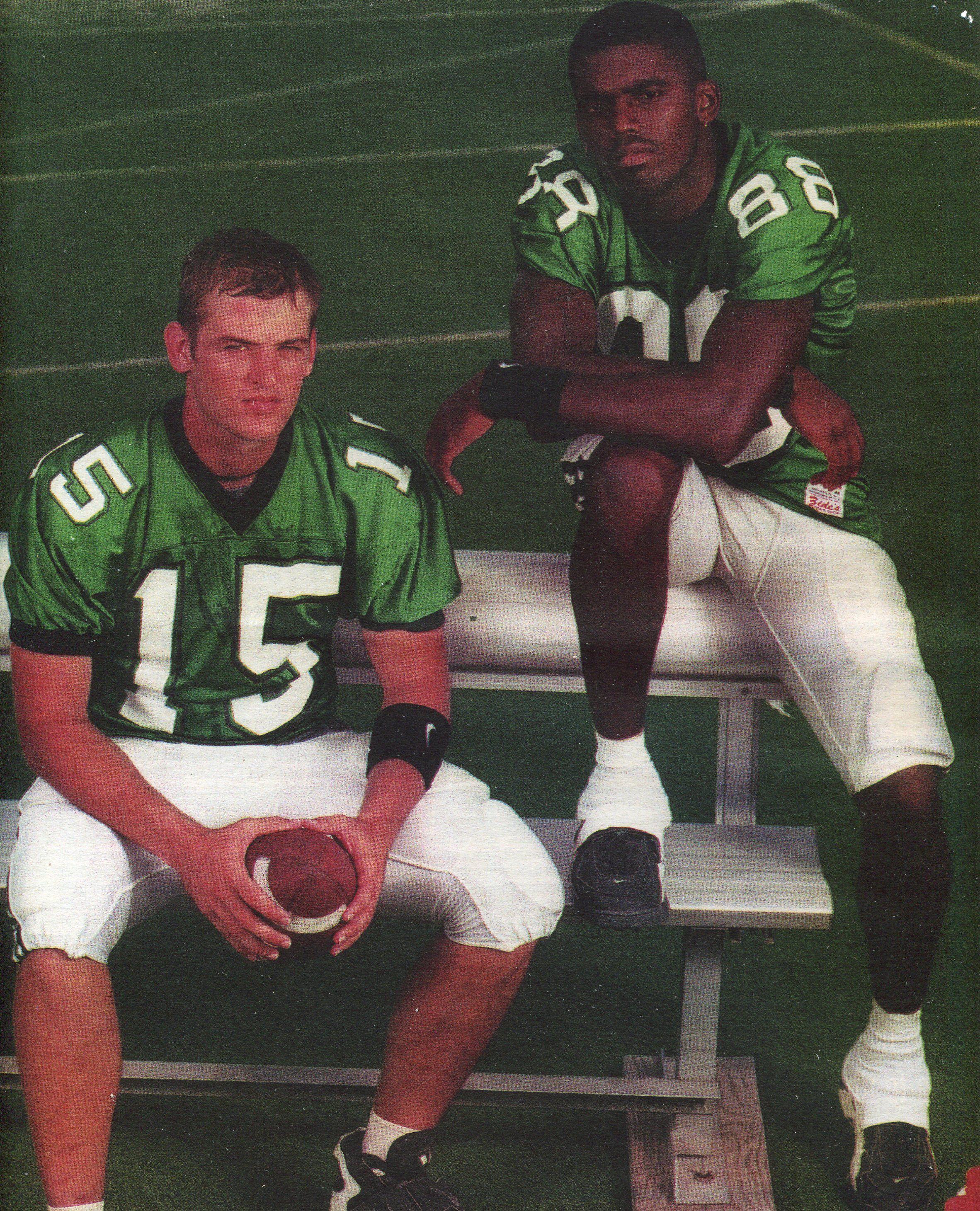 check out 179bc 5013e marshall football; quarterback; eric kresser & receiver ...