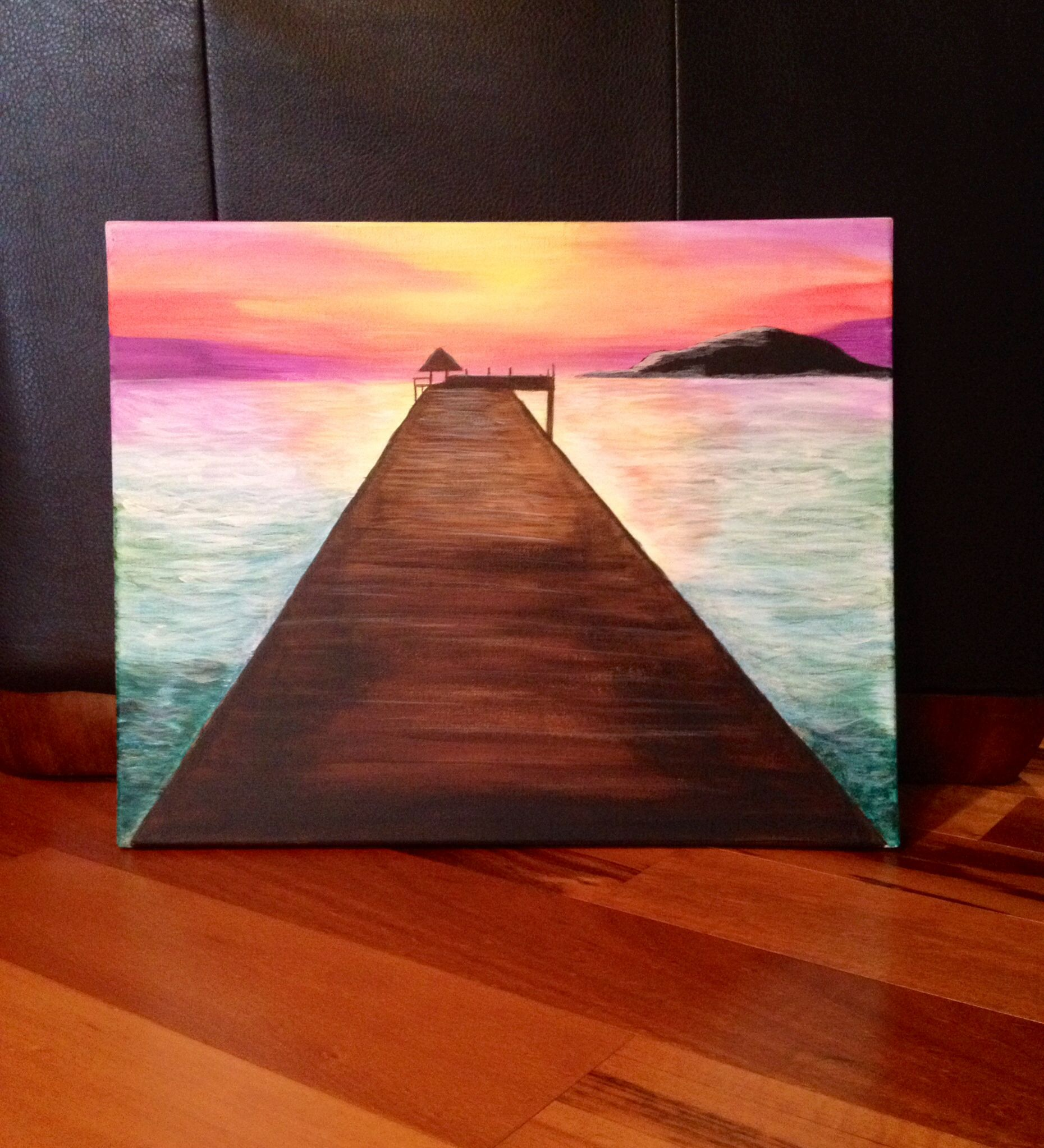 """Easymeworld An Easy Acrylic Painting For Beginners: My Own Acrylic On Canvas """"my Serenity"""" Beginner Painting"""