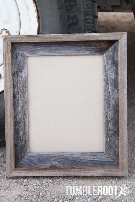 Reclaimed, up-cycled, handmade rustic barnwood frame. With border ...
