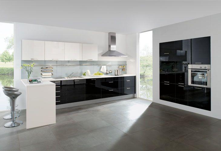Küche In Schwarz Weiß Eckküche Www Dyk360 Kuechen De Küchen In