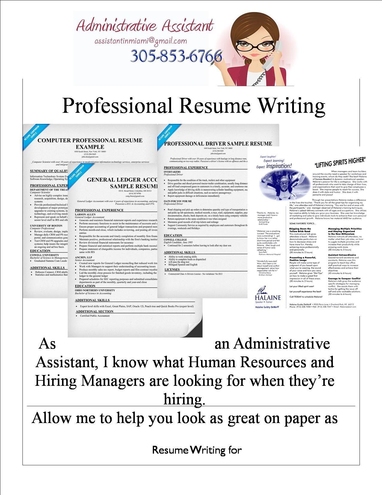Professional Resume Writing Service Professional Resume Writing Services  Freelance Administrative