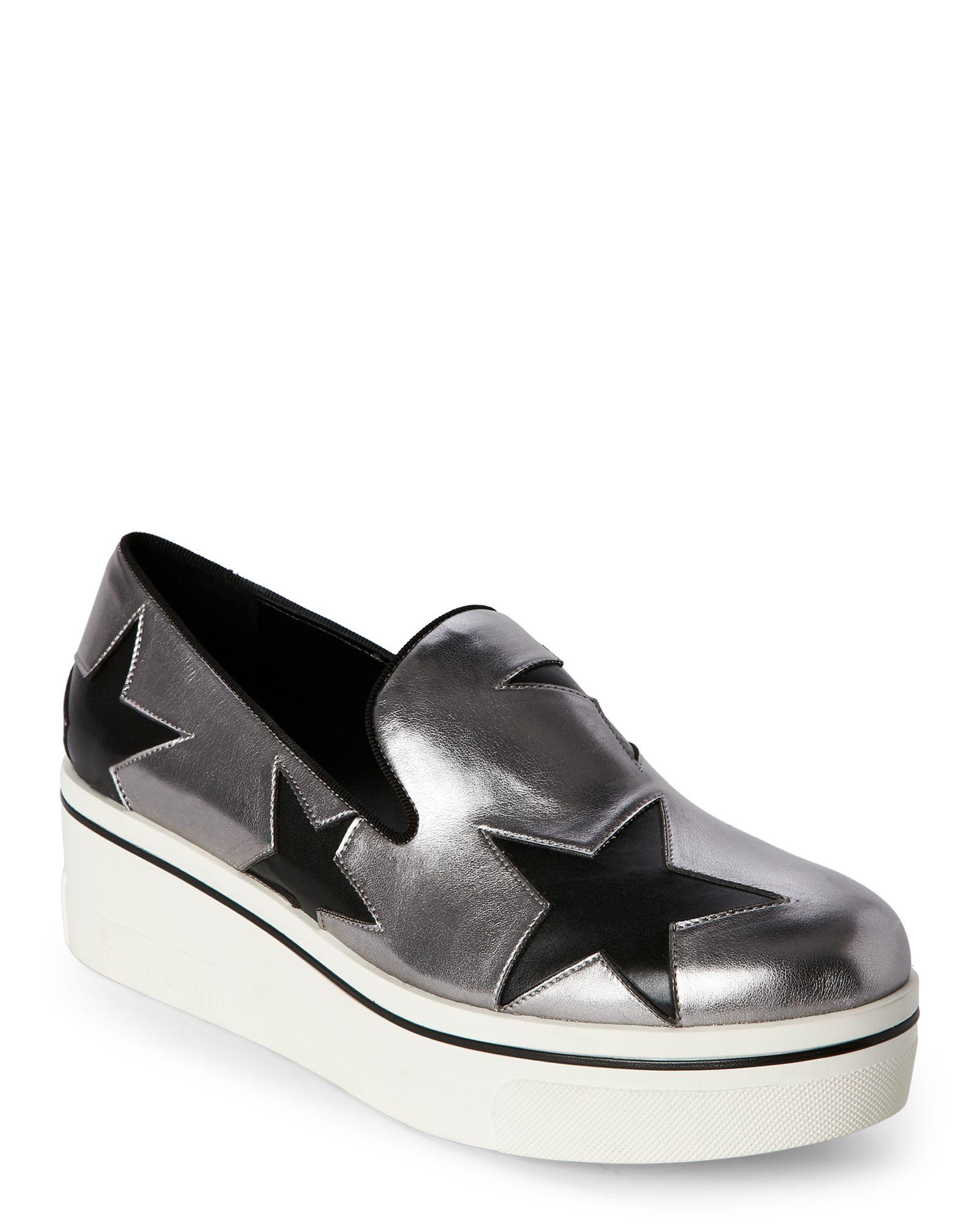 Stella McCartney Black Star Binx Platform Slip-On Sneakers oXPtTTq2Bo