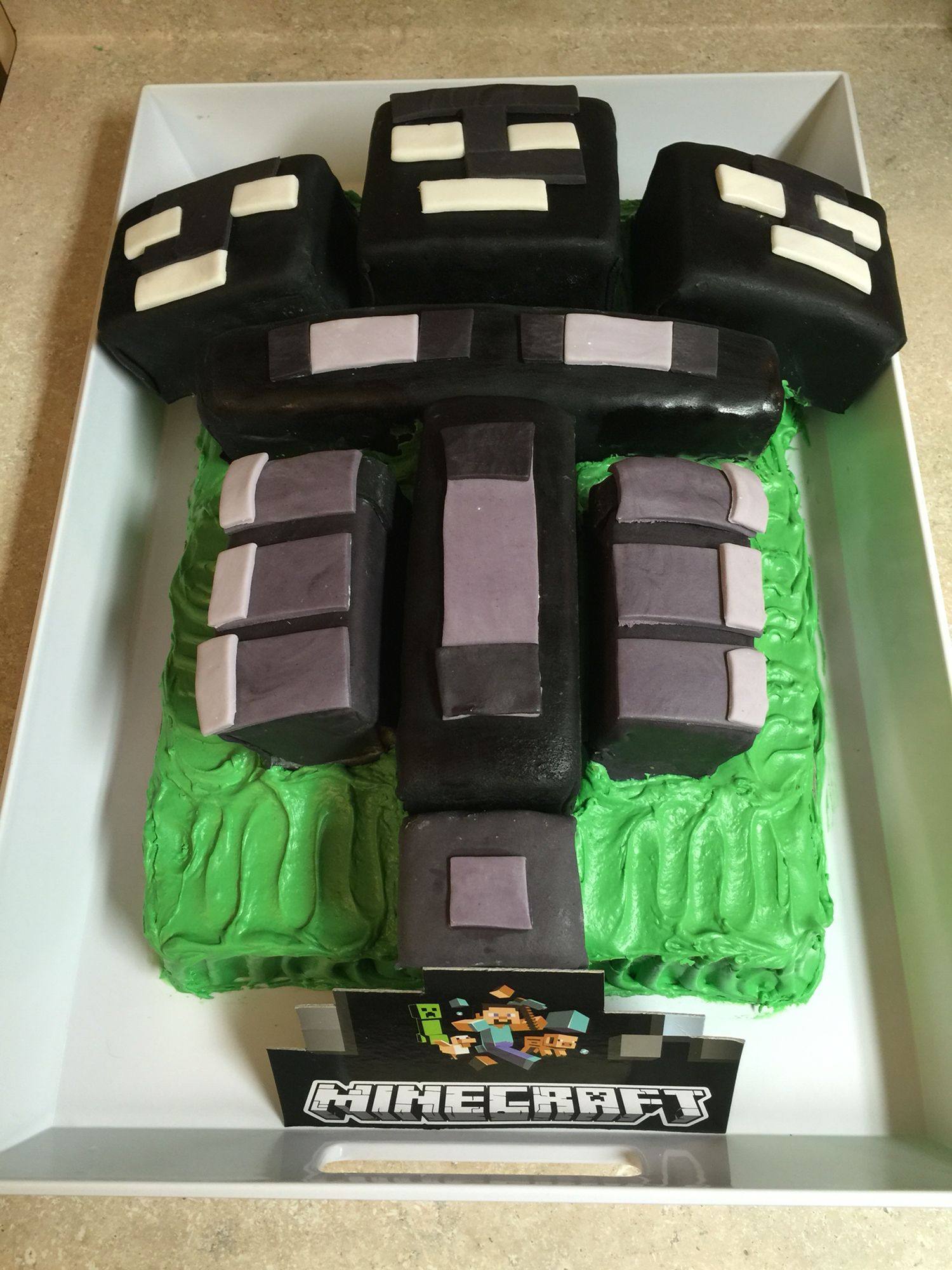 Minecraft Wither Birthday Cake Foodie Food Inspiration