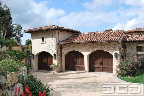 Tuscan Design Garage Doors in San Diego CA | Carriage House Style Overhead Doors - mediterranean - garage and shed - san diego - Dynamic Garage Door